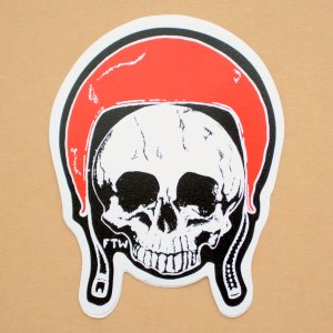 画像1: ステッカー/シール ヘルメットスカル Helmet Skull