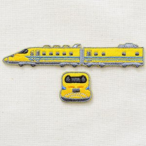 画像1: 鉄道/電車 トレインワッペン2 923形ドクターイエロー(2枚組)