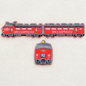 画像1: 鉄道/電車 トレインワッペン2 485系レッドエクスプレス(2枚組)