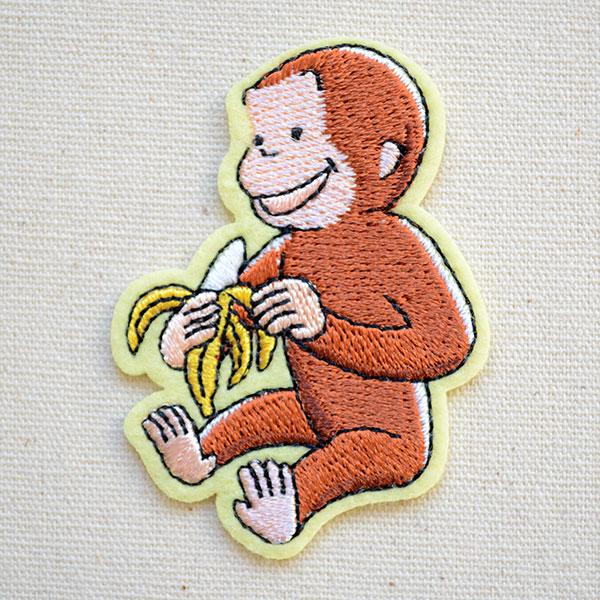 画像1 ワッペン おさるのジョージ バナナS