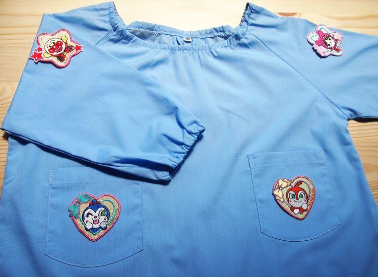 Shiny Wappen Soreike!Anpanman (Anpanman Star Red) / きらきらワッペン それいけ!アンパンマン(アンパンマン 星形 レッド) スモック 貼り付けイメージ