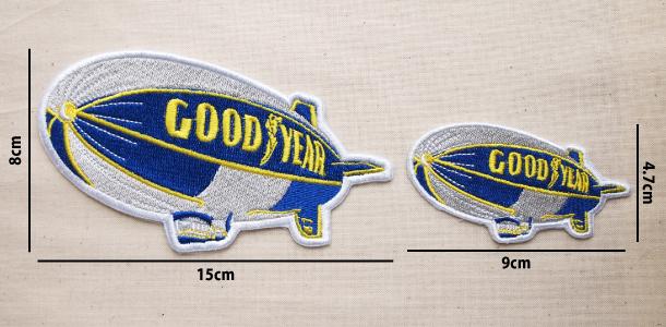 Wappen Goodyear Blimp(Balloon) 2size / ワッペン グッドイヤー 飛行船(バルーン) 全2サイズ