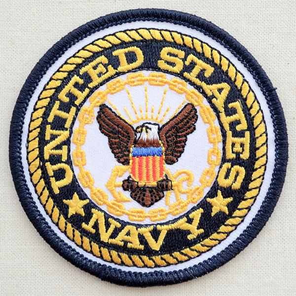 ミリタリーワッペン united states navy ネイビー アメリカ海軍 ラウンド