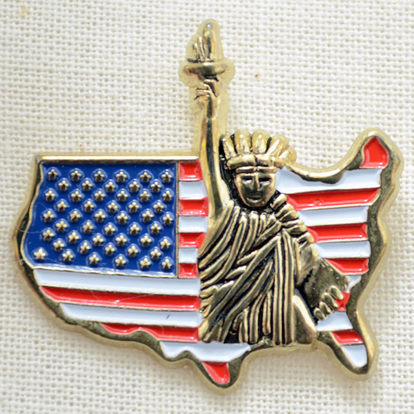 NEW YORK STATUE OF LIBERTY AMERICAN FLAG PATCH Badge United States USA Big Apple
