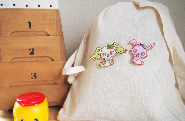 Wappen Sanrio Jewel Pet Peridot & Luna(Moon Stone) / ワッペン サンリオ ジュエルペット ペリドット&ルナ(ムーンストーン)